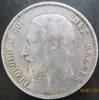 BELGIQUE, 5 Francs Léopold II 1871 , TB+ - 09. 5 Francs