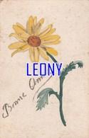"""CPSM 9X14  """"  FLEUR JAUNE - BONNE ANNEE"""" - Flowers"""