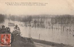La Crue De La Marne (Janvier 1910) La Marne Vue Prise De La Côte De Compertrix, Côte De Châlons - Châlons-sur-Marne