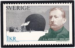 "Sverige: 1kr.  ""Famous Swedish Explorers"" - S. A. Andrée And His Balloon Örnen (The Eagle) - 1973 -  Sweden - Postzegels (afbeeldingen)"