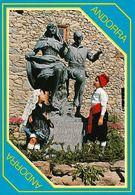 1 AK Andorra * Statue Für Ein Tanzendes Paar In Andorra * - Andorra
