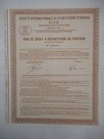 SIPH Bon De Repartition  ETUDES Et EXPLOITATIONS MINIERES De L'INDOCHINE 1928       VIETNAM ?????? LAOS - Azië
