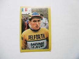 19D - Chromo Cyclisme équipe Pelforth France Bernard Guyot Savigny - Trade Cards