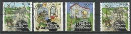 BRD 2017 Mi.Nr. 3282 / 84 + 3287 , Bremer Stadtmusikanten - Grimms Märchen (VIII) - Gestempelt / Fine Used / (o) - Used Stamps