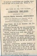 ZA 13/ W.O. II/ °OORDEREN 1883 + OORLOGSRAMP ANTWERPEN 1945 LUDOVICUS  SNELDERS - Religion & Esotérisme