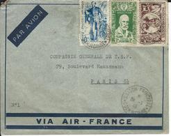 LETTRE D'INDOCHINE - SAIGON  à Destination De La  FRANCE 29/1/46 - Postmark Collection (Covers)