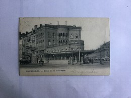 BRUXELLES  1904   HOTEL DE LA TERRASSE - Cafés, Hotels, Restaurants