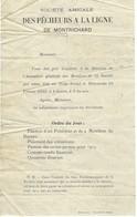 Lettre De La Société Amicale Des Pêcheurs à La Ligne De Montrichard Pour Assemblée Générale Permis De Pêche 1913 - Vieux Papiers