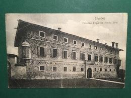 Cartolina Clusone - Palazzo Fogaccia - Scecolo XVII - 1921 - Cuneo