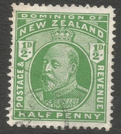 New Zealand. 1909-12 KGV. ½d Used. SG 387 - 1907-1947 Dominion