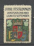 SWEDEN 1913 Jubiläumsausstellung Landskrona Exhibition Vignette - Erinnofilie