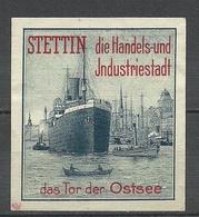 STETTIN Die Handels - Und Industriestadt Der Schiff Ship Das Tor Der Ostsee Vignette Poster Stamp - Vignetten (Erinnophilie)