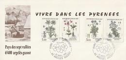 OT Sur Carte Postale  : Vivre Dans Les Pyrénées, Pays Des 7 Vallées (Argeles-Gazost, Hautes-Pyrénées, 65) Du 24-04-1983 - Marcophilie (Lettres)