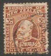 New Zealand. 1909-16 KGV. 3d Used. P 14X14½ SG 389 - 1907-1947 Dominion