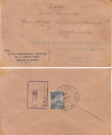 Seremban  WW 2  Japanese Occupation  Cover To Johore  # 18025 D  Inde Indien - Ocupacion Japonesa