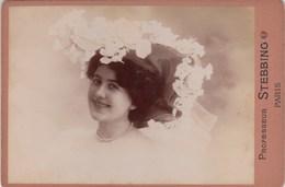 (PHOTO D ART ORIGINALE Fin 19eme Debut 20 Eme  10.5x16.5  Sur Support Carton)  Lucy Manon( Pho Prof STEBBING) - Oud (voor 1900)