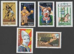 France Neuf Sans Charnière 2008 Le Cirque  Série Complète YT 4216 à 4221 - France
