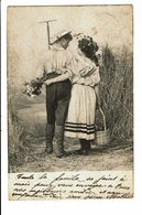CPA - Carte Postale-Belgique -Couple Se Promenant Dans Les Champs-1903  VM4655 - Couples