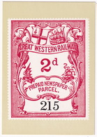 Great Western Railway Prepaid Newspaper Parcel 2d - Philatex '1980 Series' - Wales, Great-Britain - Postzegels (afbeeldingen)