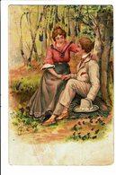 CPA - Carte Postale-Belgique -Jeune Couple Assis Dans Les Bois-1904  VM4656 - Couples