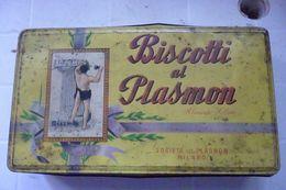 SCATOLA LATTA BISCOTTI PLASMOM - Autres Collections