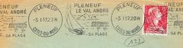 France. Flamme. Machine Krag. Pleneuf Le Val André. Plage. Voilier - Marcophilie (Lettres)