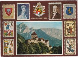 Liechtenstein - 8 Briefmarken, Fürst Franz Josef II & Fürstin Gina - Schloss Vaduz, Staatswappen - Postzegels (afbeeldingen)