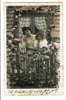 CPA - Carte Postale-Belgique -Une Mère Et Sa Fille Sur Un Balcon Fleuri-1905 VM4657 - Femmes