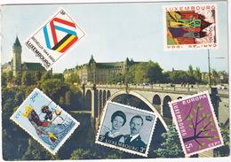 Luxembourg - 5 Timbres, Pont Adolphe Et Caisse D'Epargne - (1970) - Postzegels (afbeeldingen)