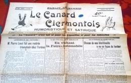 Le Canard Clermontois Humoristique Et Satirique N°474 Mai 1932 Pierre Laval Foire Automobile Clermont Ferrand - Otros