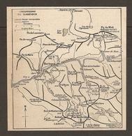 CARTE PLAN 1921 - EXCURSIONS De BAREGES - PIC De NEVE PIC De LASCOURS CABANE De THOU NEOUVIELLE RABIET - Topographical Maps