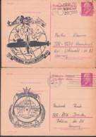 Rotterdam Plak Nu Kinder Zegels, Nuclear, Uss Abraham Lincoln Submarine U-Boot, Gemany East Postcard Walter Ulbricht - Marítimo