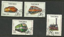 Tanzania - 1991 Locomotives CTO    SG 1085-8      Sc 803-6 - Tanzania (1964-...)