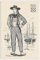 CPSM 10.5 X 15 Costume Folklorique BRETAGNE Homme Illustrateur Margotton - Illustratoren & Fotografen