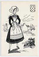 CPSM 10.5 X 15 Costume Folklorique BRETAGNE Femme Illustrateur Margotto - Illustratoren & Fotografen