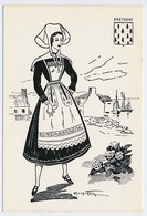 CPSM 10.5 X 15 Costume Folklorique BRETAGNE Femme Illustrateur Margotto - Autres Illustrateurs