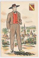 CPSM 10.5 X 15 Costume Folklorique ALSACE Homme Illustrateur Margotton - Illustrators & Photographers