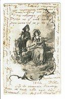 CPA - Carte Postale-Belgique -Un Jeune Couple Discutant - 1902- VM4660 - Couples