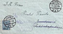 POLOGNE 1935 LETTRE DE LEZNO - 1919-1939 Republic