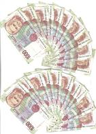 1000 LIRE MONTESSORI SERIE A Lotto Di 20 Biglietti LOTTO 2647 - [ 2] 1946-… : République