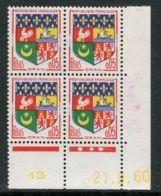 FRANCE ( COINS DATES ) : Y&T N°  1230A  COIN  DATE  DU  27/09/60  TIMBRES  NEUFS  SANS  TRACE  DE  CHARNIERE . - 1960-1969