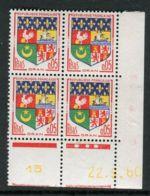 FRANCE ( COINS DATES ) : Y&T N°  1230A  COIN  DATE  DU  22/09/60  TIMBRES  NEUFS  SANS  TRACE  DE  CHARNIERE . - 1960-1969