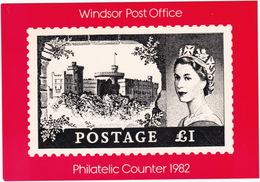 Windsor Post Office - The 1 Pound 'Windsor Castle' Stamp (1955-58)  - Philatelic Counter 1982 - Postzegels (afbeeldingen)
