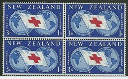 NEW ZEALAND 1959 Red Cross Block Mint (GN 0336) - Nuovi
