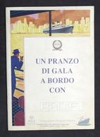 Pubblicità Ceramiche Navigazione - Pranzo Di Gala A Bordo Con RADIF - 1996 - Pubblicitari
