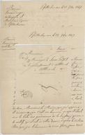 1 Lettre Cachet Ferrette + 1 Franchise PFETTERHOUSE 1848 Bernard Simendinger Sabotier Aubergiste Epicier - Documentos Históricos