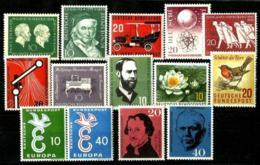 Alemania Federal 12 Series Con Charnela - [7] Federal Republic