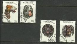 Tanzania - 1993 Dogs CTO   SG 1684-7  Sc 1147-50 - Tanzania (1964-...)