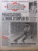 Journal Libération (11 Fév 1993) Privatisations - Rushdie - Bosnie - C Merle - Bob Marley - Pierre Bourdieu - Zeitungen