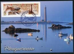 FRANCE (2017). Carte Maximum Card - ATM LISA - Société Nationale Sauvetage En Mer SNSM 50 - Phare, Lighthouse - Brest - Cartas Máxima